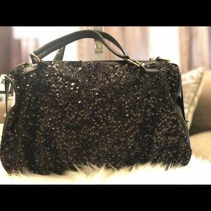 MAOMAOBAG Satchel Bag Black Sequins
